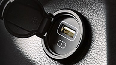 USB-indgang ved bagsæde