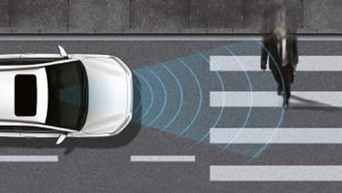 Automatisk nødbremse med fodgængergenkendelse