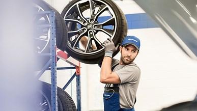 Opbevar dine øvrige dæk optimalt