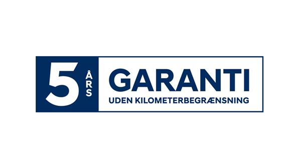 5 års garanti uden kilometerbegrænsning