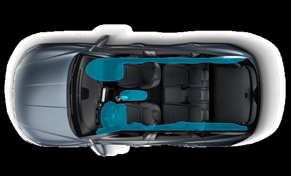 Forbedret sikkerhed med 7 airbags