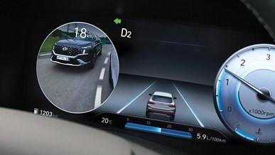 Blindvinkel-sensor med visning i instrumentering (BVM)