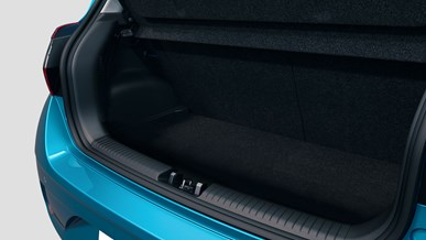 Fleksibelt, rummeligt bagagerum